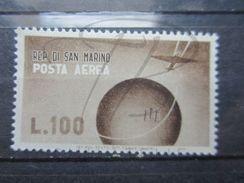 VEND BEAU TIMBRE DE POSTE AERIENNE DE SAINT-MARIN N° 52 , XX !!! - Posta Aerea