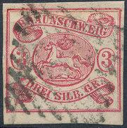 Stamp   1853 3sgr  Used - Braunschweig