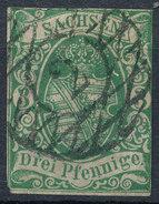 Stamp   1851 3pf  Mint - Saxony