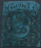 Stamp   1855 2ng  Used - Saxony
