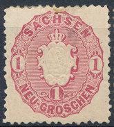 Stamp   1863 1ng  Mint - Sachsen