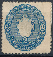 Stamp   1863 2ng  Mint - Saxony