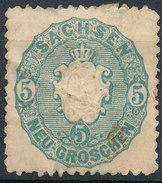 Stamp   1863 5ng  Mint - Saxony