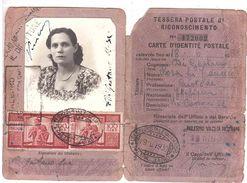 2 X £100 DEMOCRATICA TESSERA POSTALE - 1946-60: Poststempel