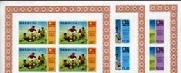 BARBUDA 1974 World Cup UNISSUED OVPT:W.GERMANY PERF.4-BLOCKS:3 (12 Stamps)officially Planned  Football Soccer - Coppa Del Mondo