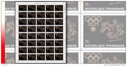 Rwanda 0422**  20c Jeux Olympiques De Munich - Feuille / Sheet De 40 MNH Equitation Horse Cheval - Rwanda