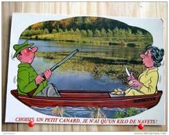 """HUMOUR SERIE CHASSE N° 844/5 """"CHOISIS UN PETIT CANARD JE N'AI QU'UN KILO DE NAVETS"""" - Humour"""