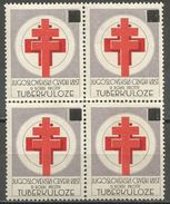 Yugoslavia,TBC 1954.,block Of Four,MNH - Unused Stamps