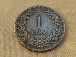 Turquie 1 Lira 1947       Km#883      Ag .600 7.50 Gr - Turquie