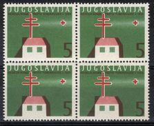 Yugoslavia,TBC 1959.,block Of Four,MNH - Unused Stamps