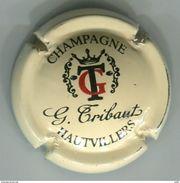 CAPSULE MUSELET CHAMPAGNE G. TRIBAUT HAUTVILLERS  ( Noir Et Rouge Sur Crème) - Tribaut