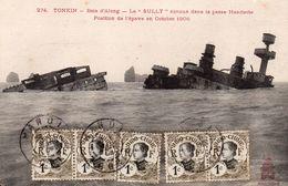 VIETNAM INDOCHINE TONKIN BAIE D' ALONG LE SULLY ECHOUE DANS LA PASSE HENRIETTE POSITION DE L' EPAVE EN OCTOBRE 1906 - Vietnam