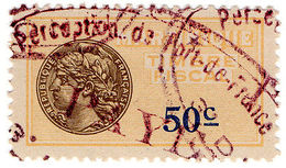 (I.B) France Colonial Revenue : Martinique Duty 50c - Europe (Other)