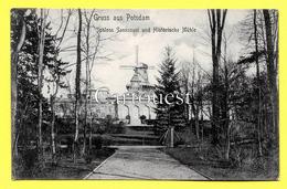 CPA GRUSS AUS POTSDAM - Schloss Sanssouci Und Historische Mühle 1907 - Potsdam
