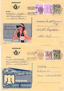 371 : BELGIQUE, Année Internationale Des COMMUNICATIONS. 1983.x 4 Différents - Enteros Postales