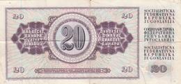 12.8.1978  -  20 Jugoslawische Dinar   -  Siehe Scan  (bn Jugo 01) - Jugoslawien