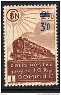 France Colis Postaux N° 204 XX  Livraison à Domicile : 3 F 0 Sur 2 F 70 Brun Sans Charnière, TB - Colis Postaux