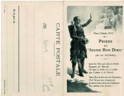 """MILITARIA. 1914-1915.  """"Prière"""", Par Botre.   Carte Double (format 9  X 14) - Patriotiques"""