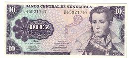 Venezuela 10 Bolivares 06/10/1981 UNC .C. - Venezuela