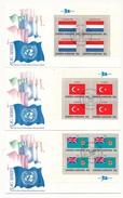 NATIONS UNIES - 16 Enveloppes FDC - Série Des Drapeaux - NY10017 - 1980 (en Blocs De 4) - Briefe