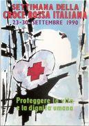 Cartolina Postale Nuova SETTIMANA DELLA CROCE ROSSA ITALIANA - Settembre 1990 - Croce Rossa