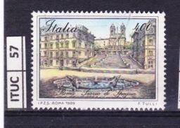 ITALIA REPUBBLICA, 1989, Piazza Di Spagna, Roma, Usato - 6. 1946-.. República