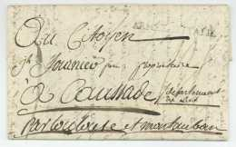 ARMEE D'ITALIE 1796 Fournier 15e Regiment De Dragons SIEGE DE MANTOUE Mantova Milano Caussade - Legerstempels (voor 1900)