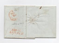!!! PRIX FIXE : DEPT CONQUIS, 121 L'YSSEL SUPERIEUR, DEBOURSE D'ARNHEM SUR LETTRE D'AMSTERDAM DE 1816 - Postmark Collection (Covers)