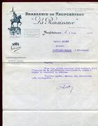 """"""" BRASSERIE DE NEUFCHATEAU """" LA RENAISSANCE """"  1928 - Alimentaire"""