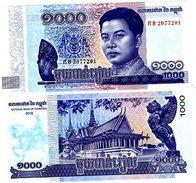 CAMBODGE CAMBODIA Billet 1000 RIELS 2016 ( 2017 ) ROI  NOUVEAU NEW  NEUF UNC - Bankbiljetten