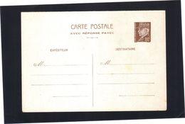 Entier Carte Postale Pétain 80 Cts .  REPONSE  PAYEE .  Neuve . - Postales Tipos Y (antes De 1995)