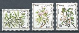Algérie YT N°1040/1042 Fleurs D'arbres Fruitiers Neuf ** - Algeria (1962-...)