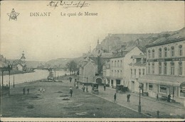 AK Dinant, Le Quai De Meuse, Cachet Feldpost (25917) - Dinant