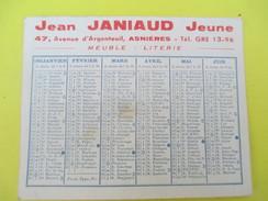 Calendrier De Sac/Recto-Verso/La Maison JEUNE/Jean JANIAUD/ ASNIERES/Literie Et Voitures D'Enfants/Meuble/1955    CAL372 - Calendars