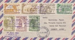 PARAGUAY  :  Série 511 à 517  Sur Lettre 1er Jour Missions Jésuites à Ascension Pour Buénos Airès - Paraguay