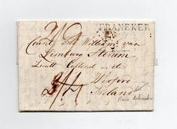 !!! PRIX FIXE : DEPT CONQUIS, 122 LA FRISE, MARQUE POSTALE DE FRANEKER /LETTRE DE 1818 POUR L'IRLANDE - Postmark Collection (Covers)