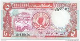 Sudan - Pick 45 - 5 Pounds 1991 - Unc - Soudan