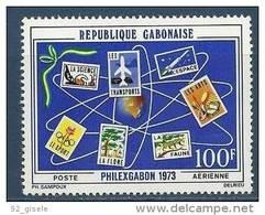 "Gabon Aérien YT 137 (PA) ""  Philexgabon "" 1973 Neuf** - Gabon (1960-...)"