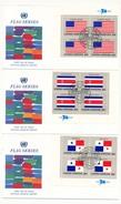 NATIONS UNIES - 16 Enveloppes FDC - Série Des Drapeaux - NY10017 - 1981 (en Blocs De 4) - Sobres