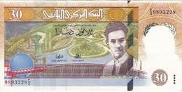 BILLETE DE TUNEZ DE 30 DINARS DEL AÑO 1997 (BANK NOTE) OVEJA-SHEEP - Tunisia
