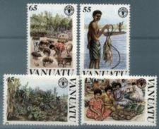 VANUATU, 1988, F.AO., WORLD FOOD DAY, YV#814-17, MNH - Sonstige