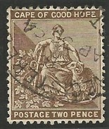 Cape Of Good Hope 1893. 2d Chocolade-brown (wmk.Anchor). SACC 57, SG 62. - Südafrika (...-1961)