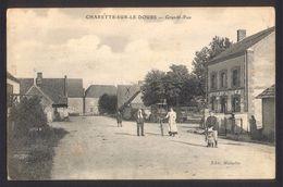 71 CPA   - CHARETTE SUR LE DOUBS - Grande Rue  Charrette - Autres Communes