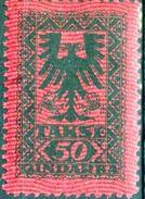 ALBANIA, SEGNATASSE, POSTAGE DUE STAMPS, 1922, FRANCOBOLLI NUOVI, (MNH**)  Michel AL P18-P21, Scott AL J23-J26, Yvert Et - Albanie