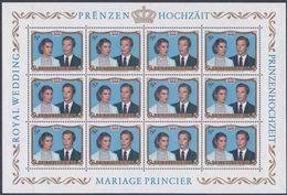 1981 - LUSSEMBURGO / LUXEMBOURG - NOZZE REALI / ROYAL WEDDING. MNH - Blocks & Kleinbögen