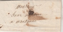 Lettre Sans Marque Postale De  TRESSAN Hérault 15/12/1853 Pour Montagnac - 1849-1876: Periodo Clásico