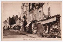 BLOIS  La Rue Porte Chartraine    2 Scans - Blois