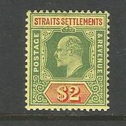 Malaysia. Strait Settlements König Geog V Nr. 134* Falz - Straits Settlements