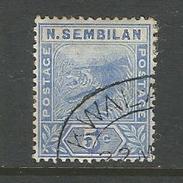 Malaysia, Negri Sembilan, Tiger Nr. 4 Gestempelt - Negri Sembilan