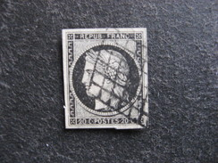 E).  N° 3, Oblitéré. Cote = 65 Euros - 1849-1850 Ceres